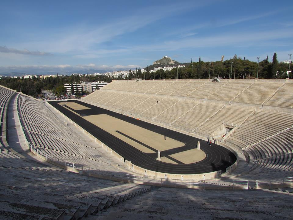 Visiting the Panathenaic Stadium is one of many things to do in Athens