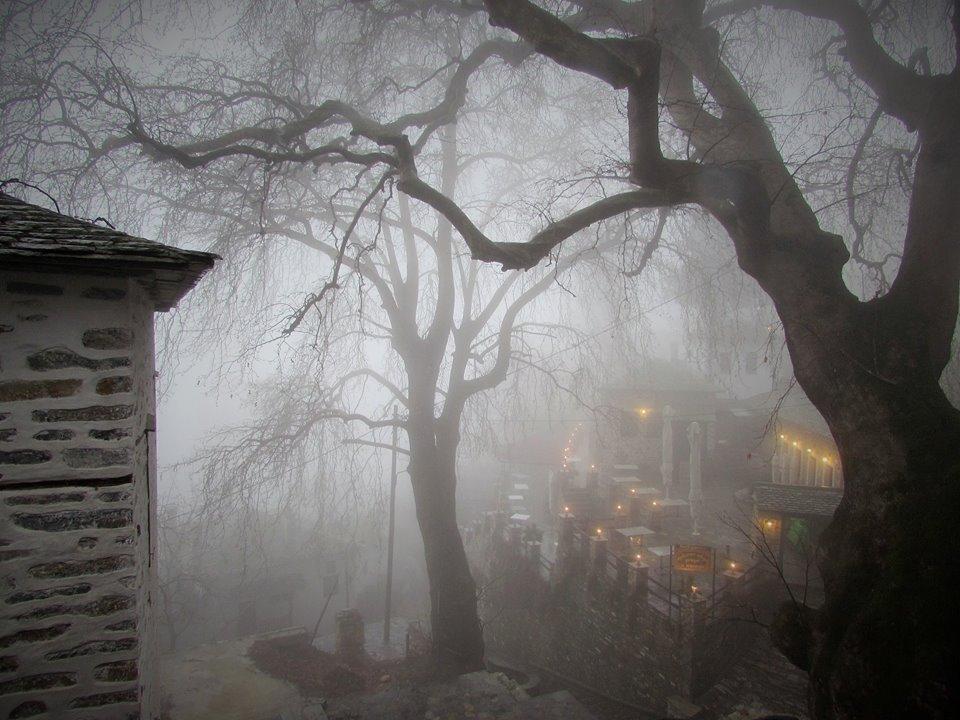 Misty and eerie Makrinitsa