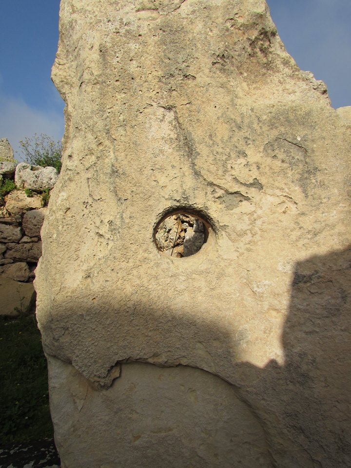 The Ggantija temples - I wonder what this hole was for?