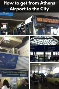 How to get from Athens Airport to the city center