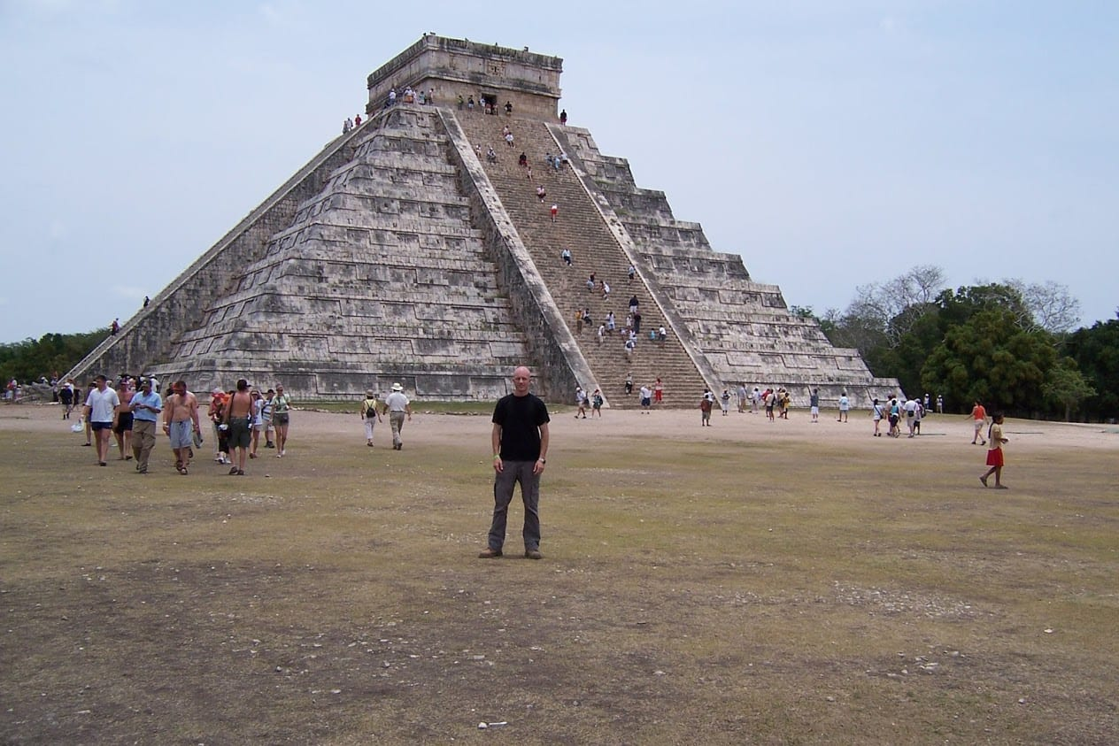 Dave Briggs at Chichen Itza in Mexico