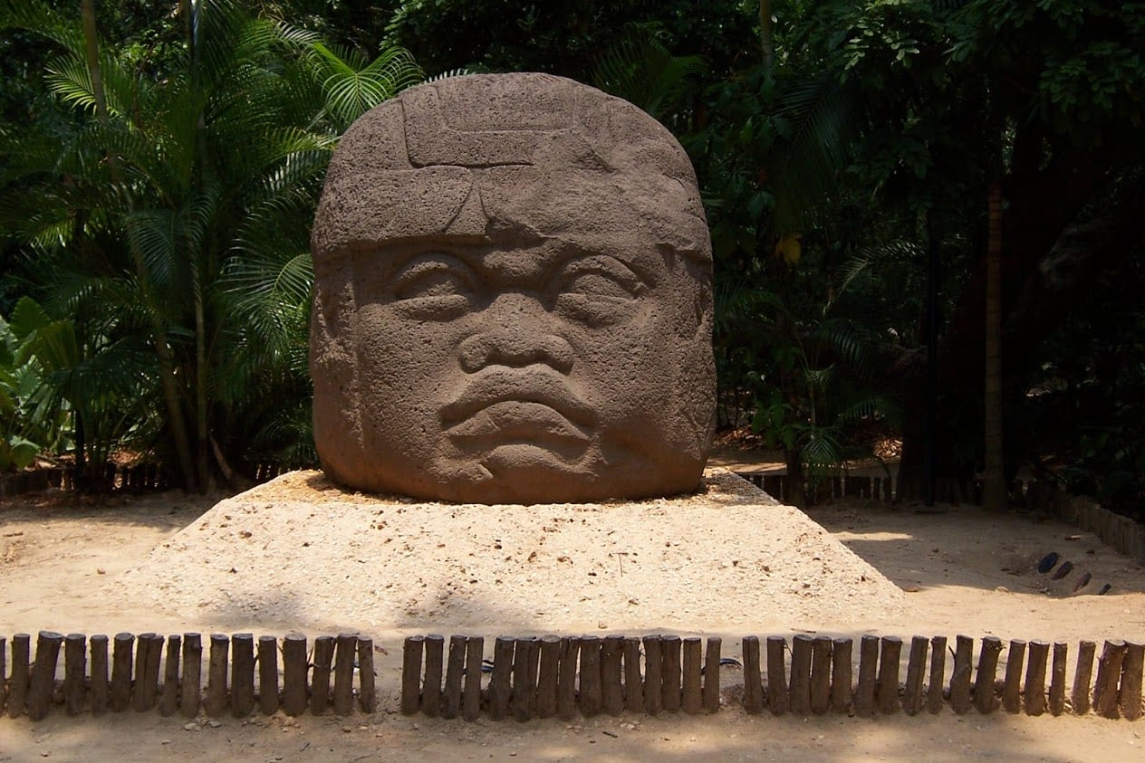 The Olmec Heads in Mexico