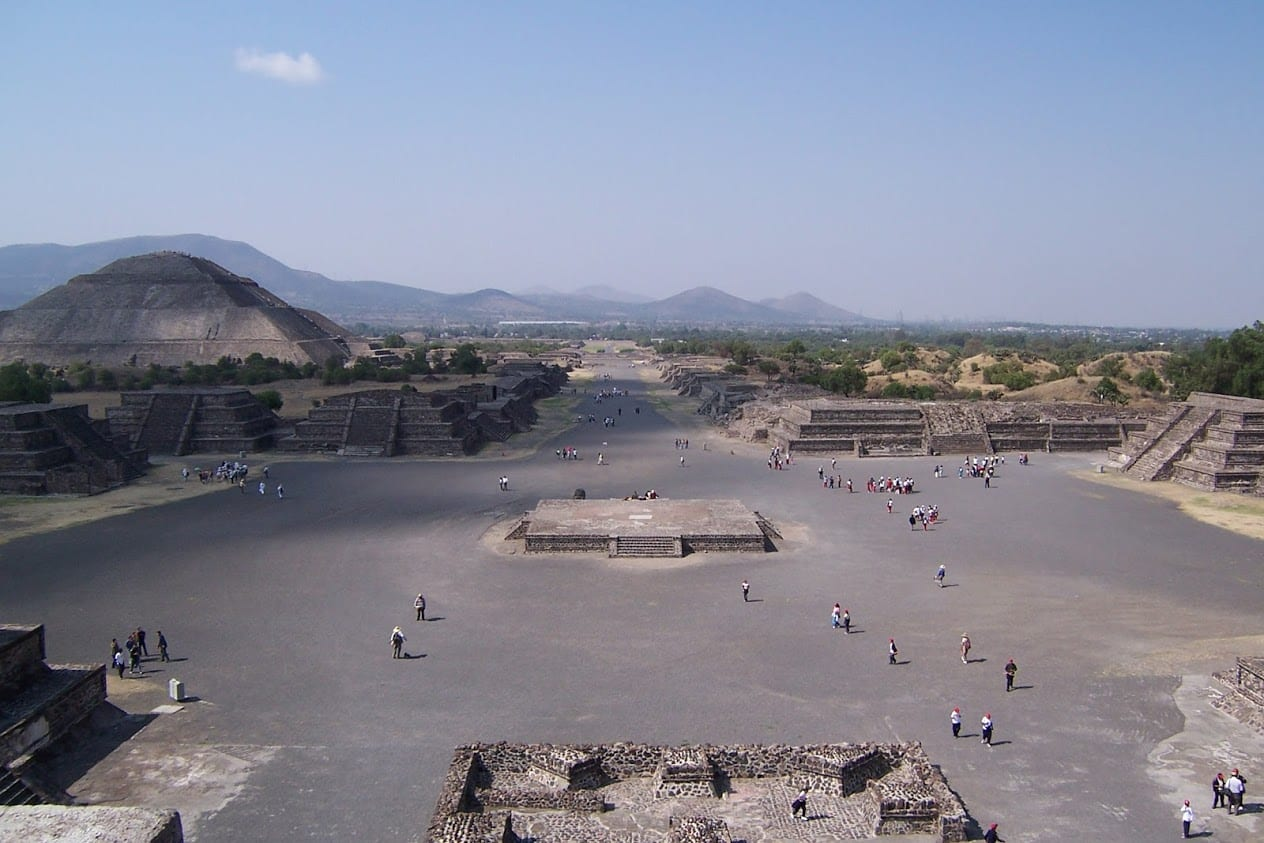 Visiting the site of Teotihuacan in Mexico