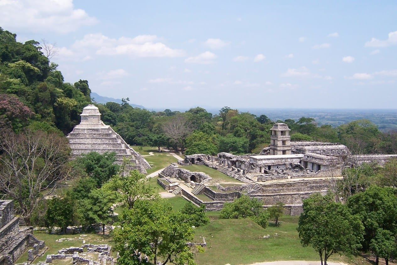 A view over the site of Palenque in Mexico