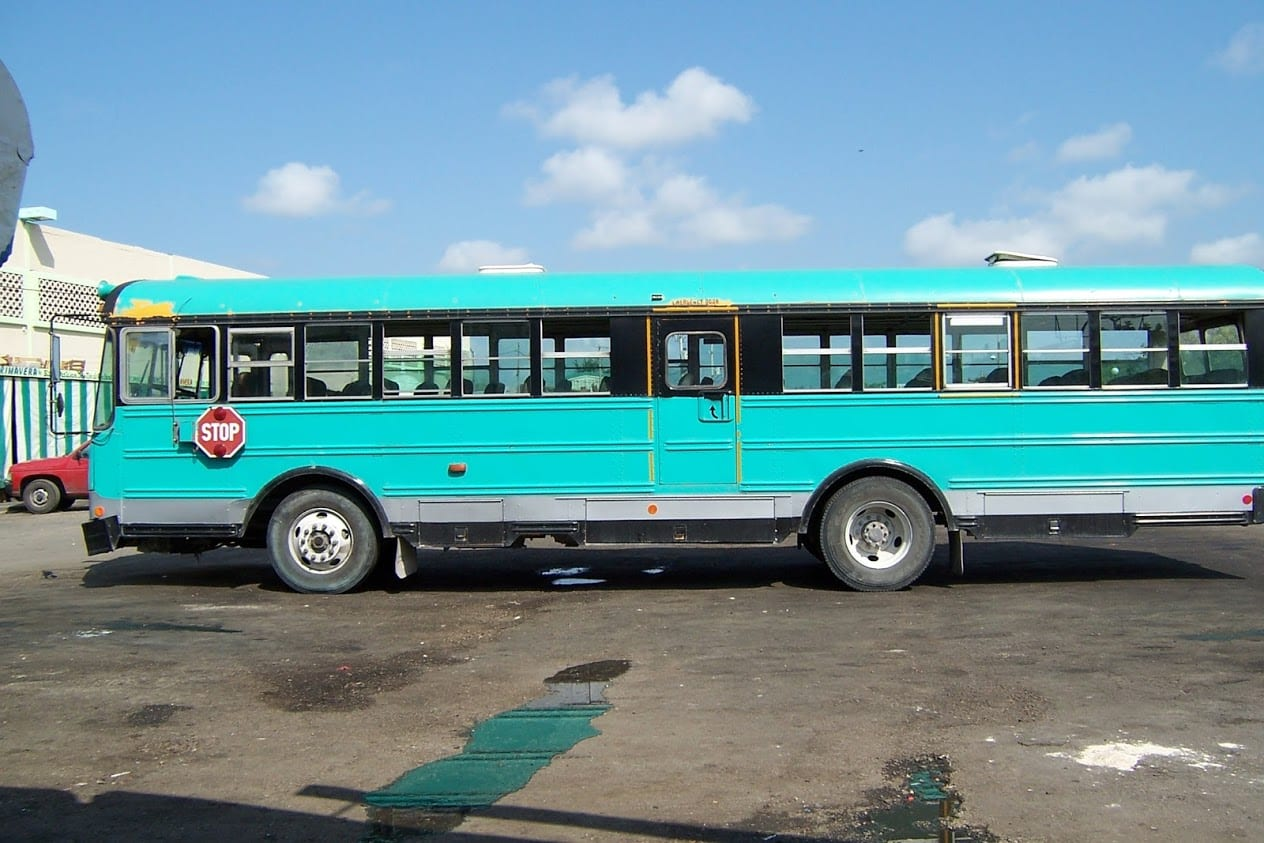 Taking the bus from Mexico to Belize