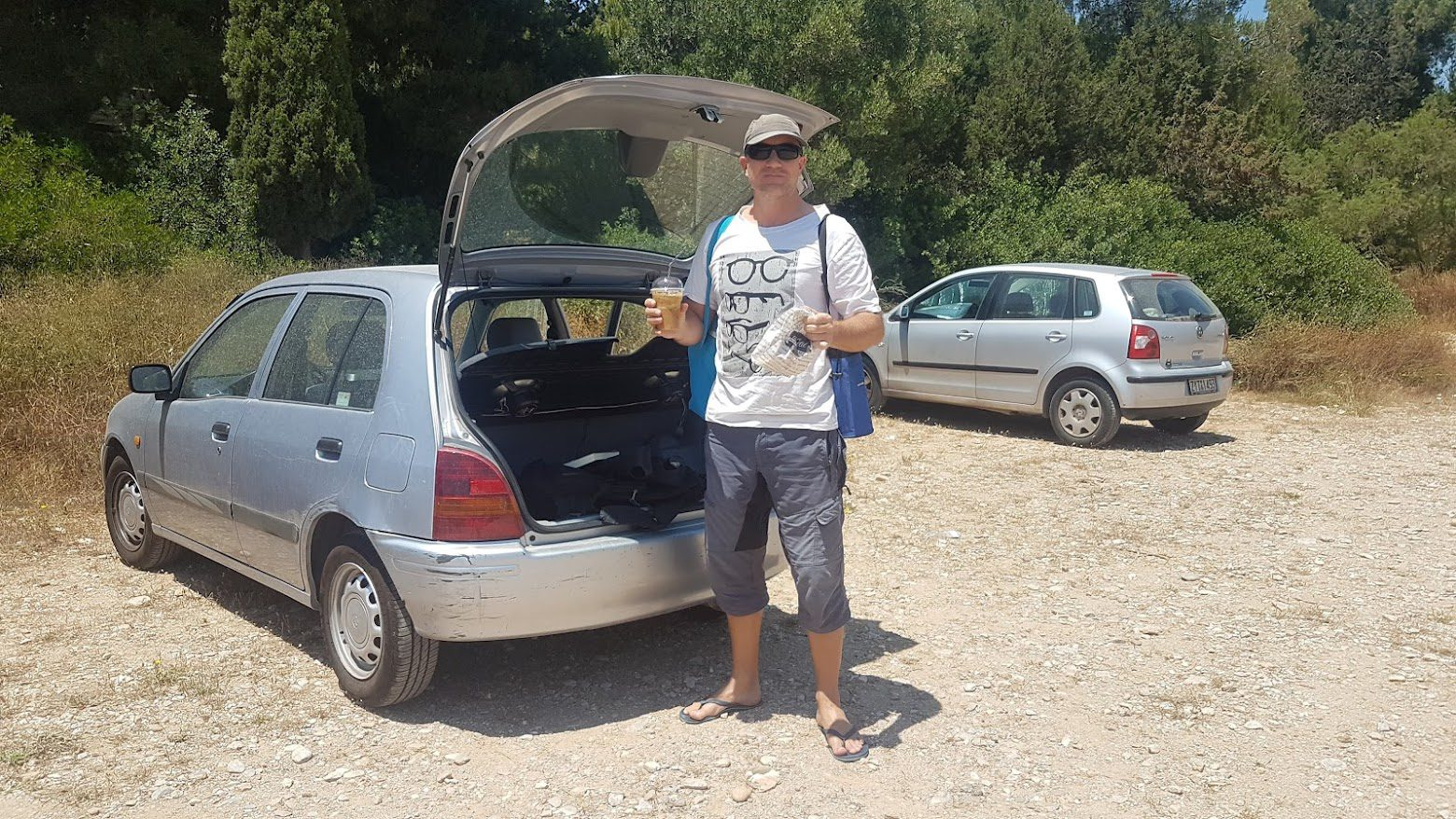 Dave on a road trip in Greece