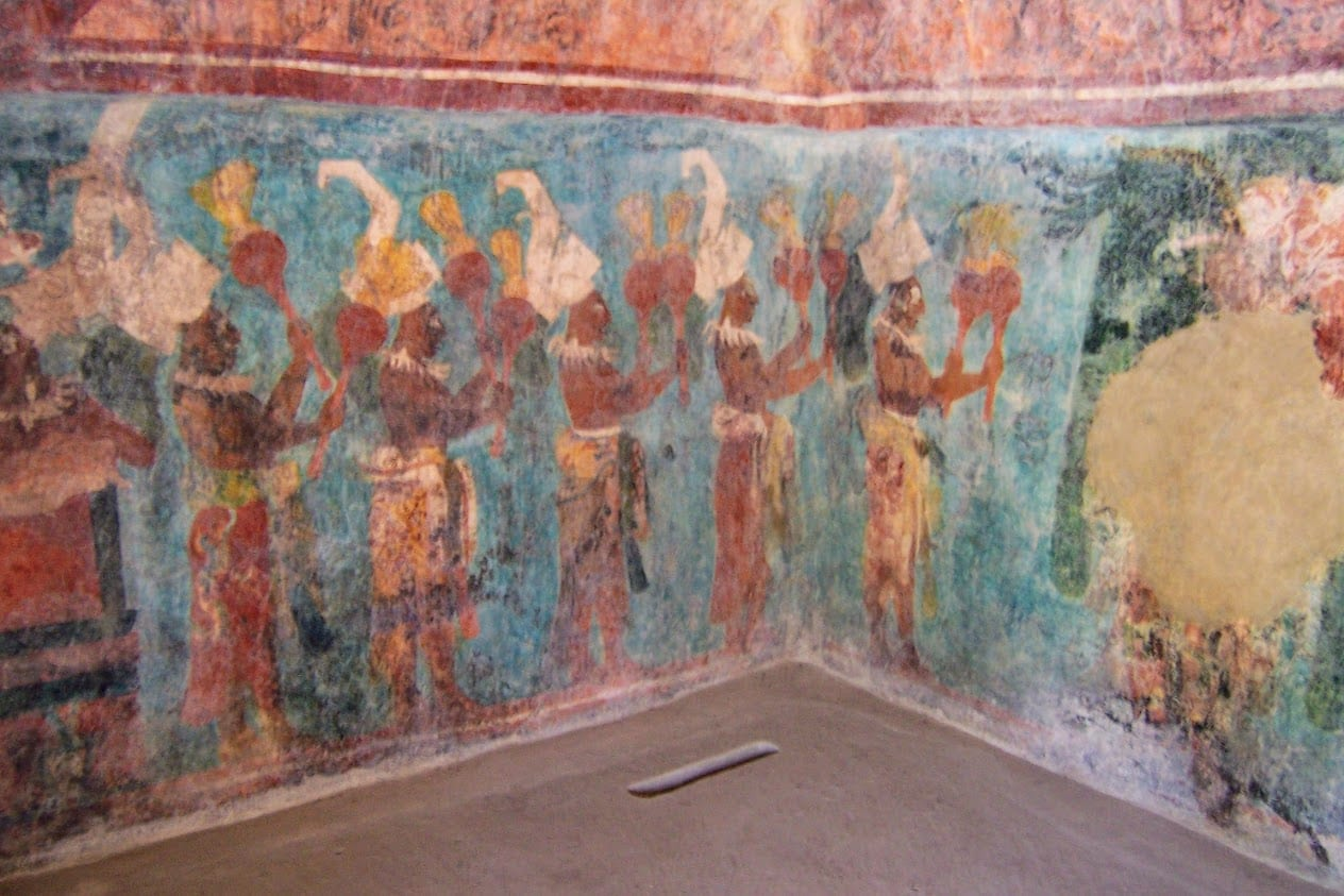Paintings of Bonampak in Mexico