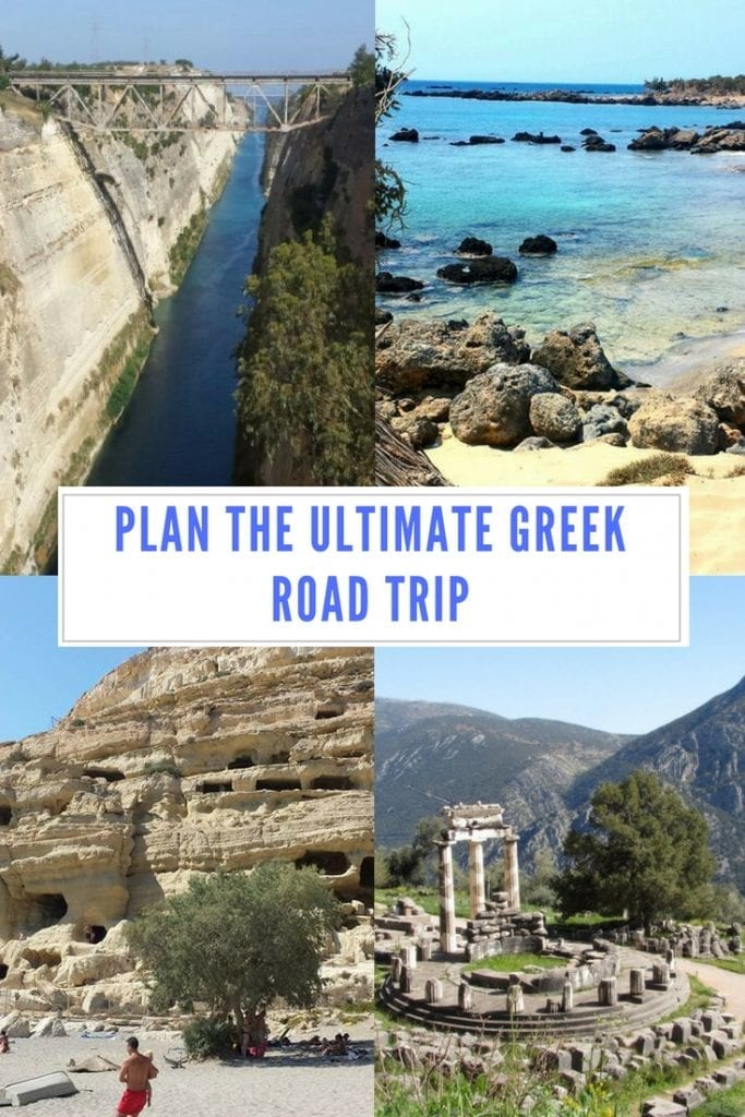 Plan the ultimate Greek road trip. 4 awesome road trip itineraries designed for you to see the best of Greece.