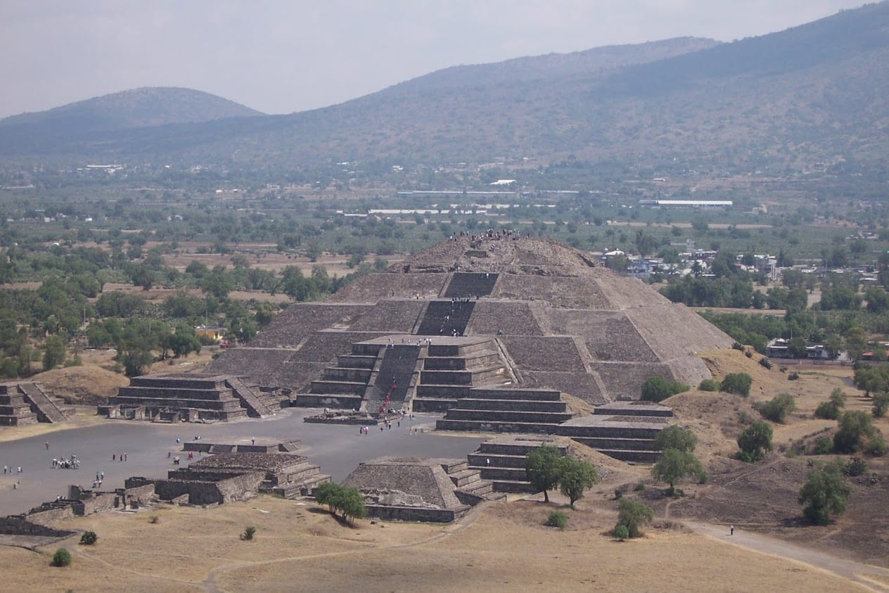 the pyramids of Teotihuacan near Mexico city