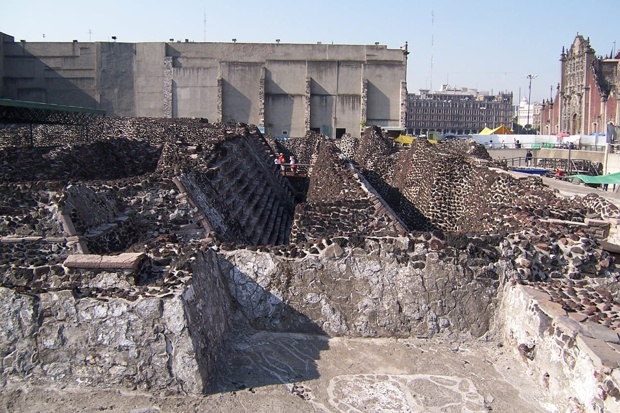 The ruins of Templo Mayor in Mexico City