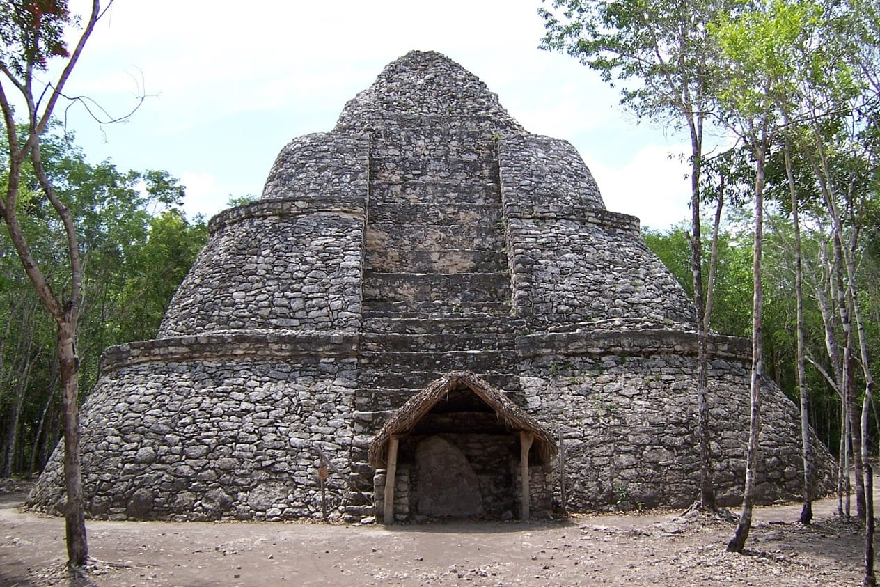 Weird Beehive pyramid in Coba Mexico