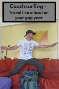 Couchsurfing - travel like a local during your gap year