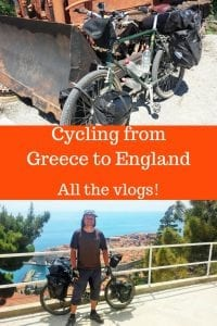 Cycling from Greece to England - All the vlogs