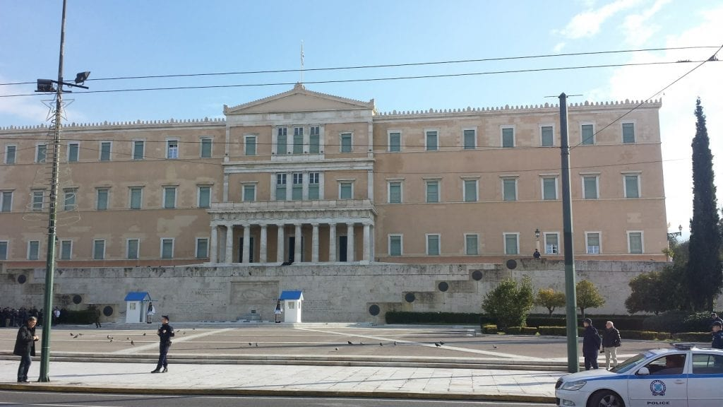 Syntagma Square in Athens is always a focal point for Greece strikes
