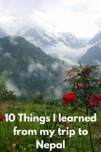 10 Things I learned from my trip to Nepal