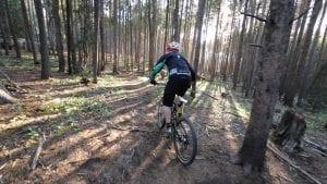 Mountain biker in Breckenridge