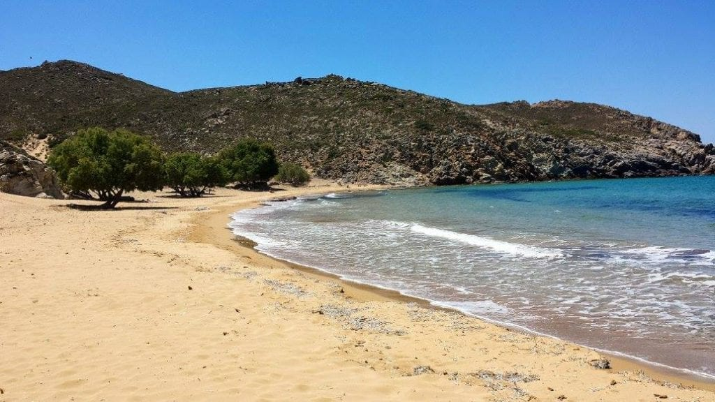 Psili Ammos beach on the island of Patmos