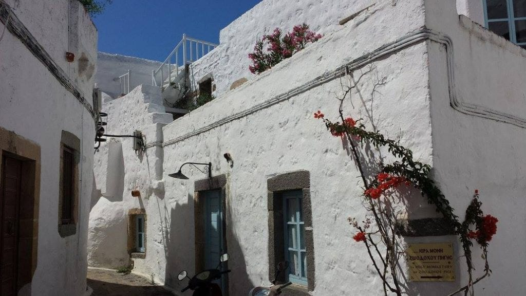 Walking around the Chora in Patmos