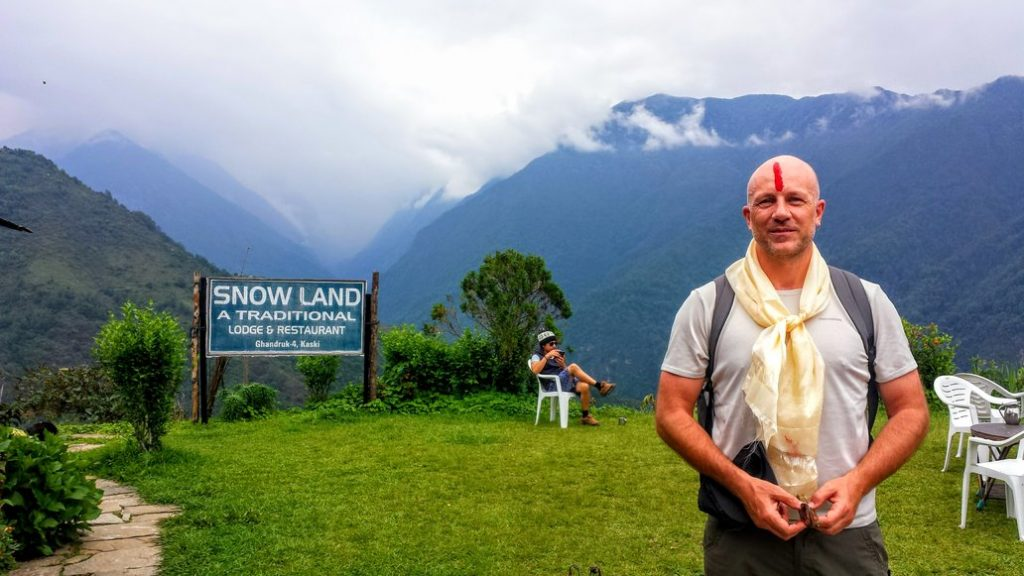 Dave Briggs at Snow Land during a trip to Nepal