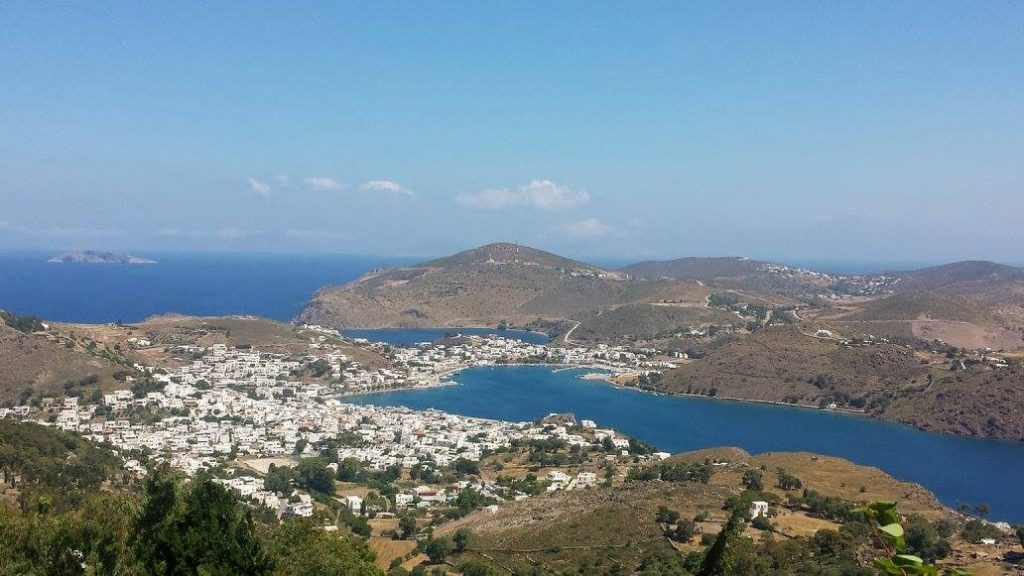 An amazing view out over the Island of Patmos