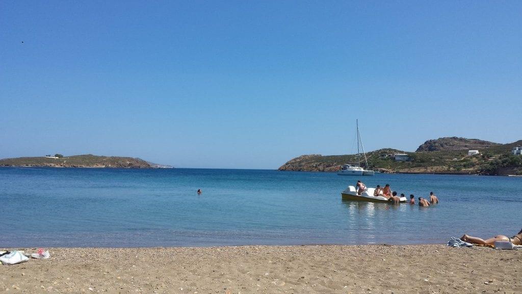 On the beach at Patmos