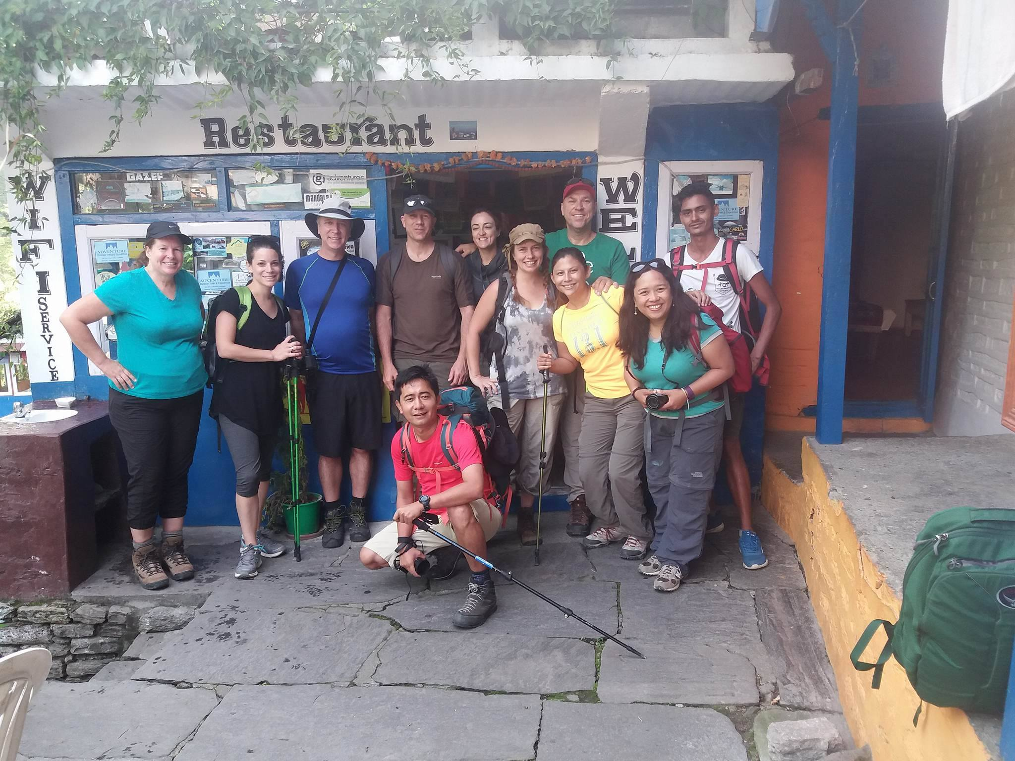 Our trekking group in Nepal