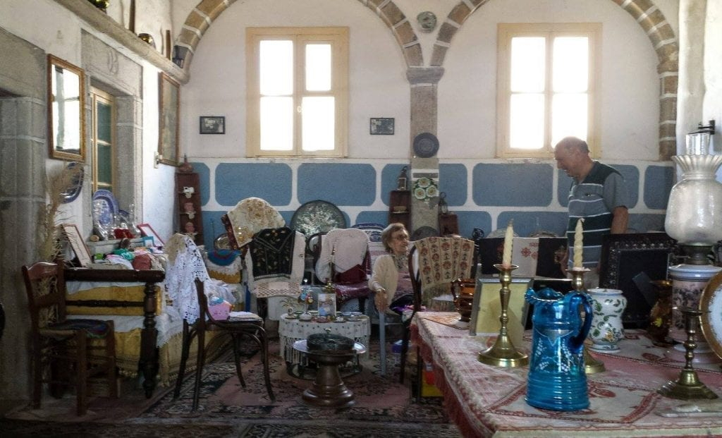 Weird collection inside a house on Patmos