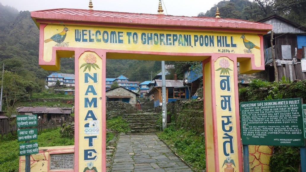 Arriving at Ghorepani