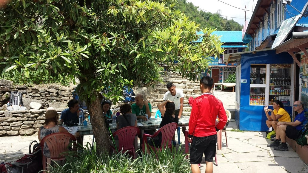 Time for a tea break hiking in Nepal