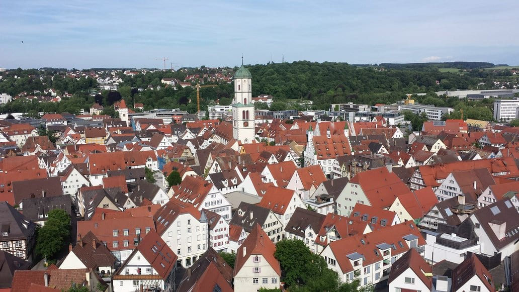 A view over Biberach an der Riss in Germany