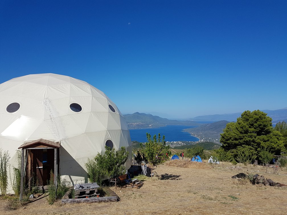 The dome at Free and Real in Greece