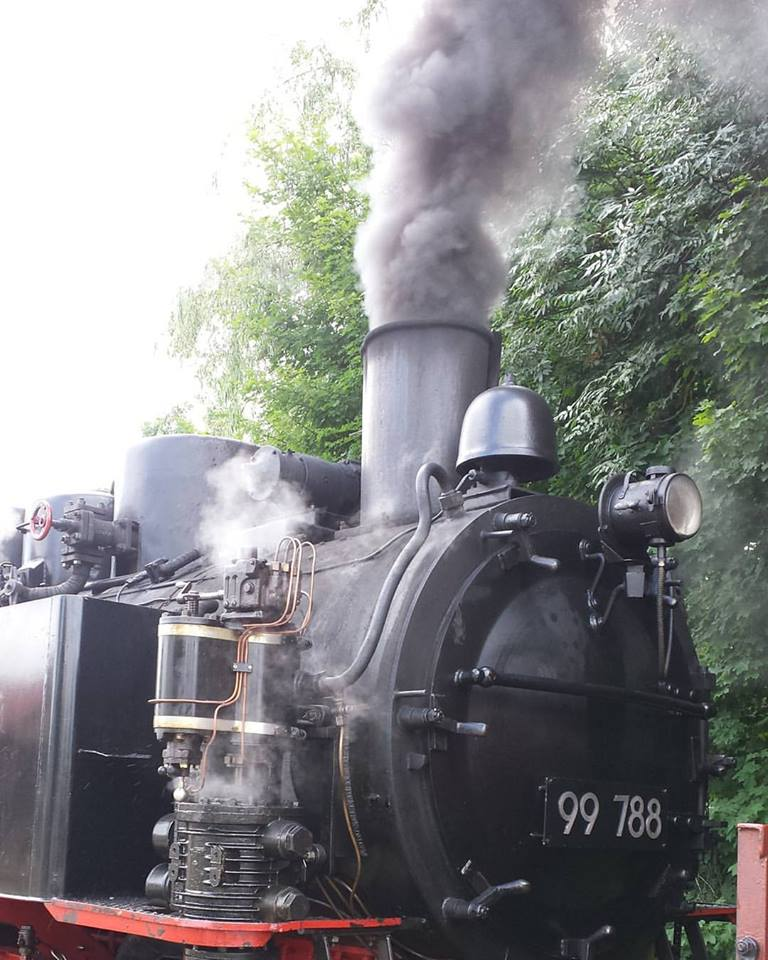 Taking the steam train from Warthausen to Ochenhausen