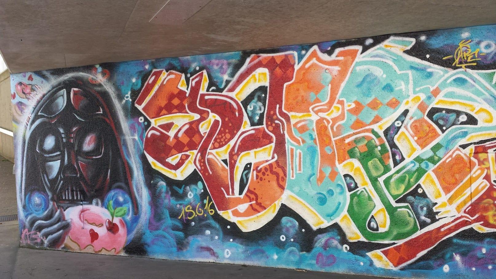 Street art in Biberach, Germany