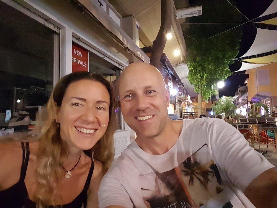Enjoying an evening meal in Nicosia