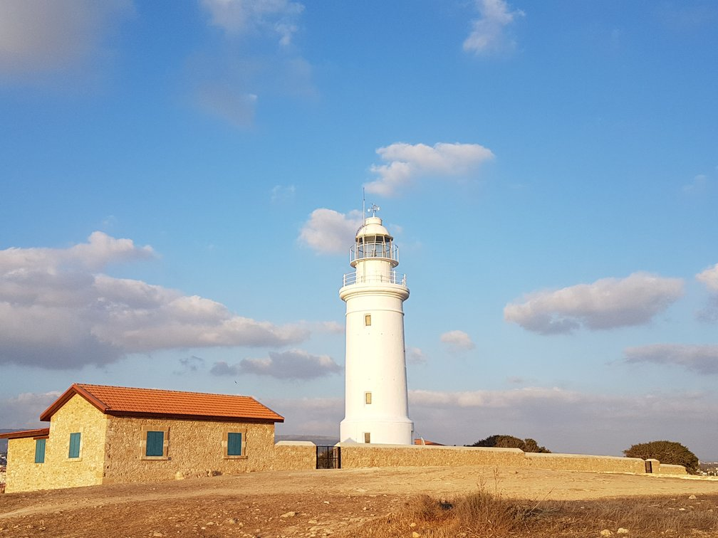 Visiting the lighthouse in the archaeological park is just one of many things to do in Paphos, Cyrpus