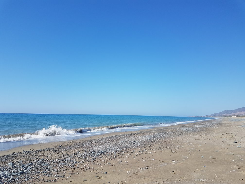 A quiet beach near Paphos in Cyprus