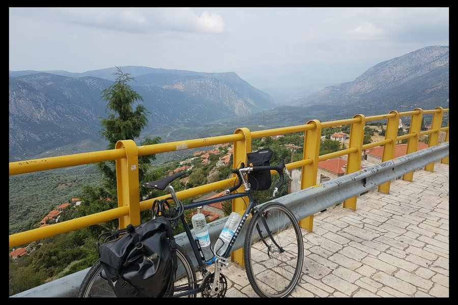 Cycling in Greece - The view from Arachova