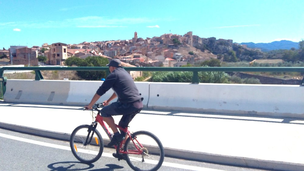 Dave cycling in Catalonia