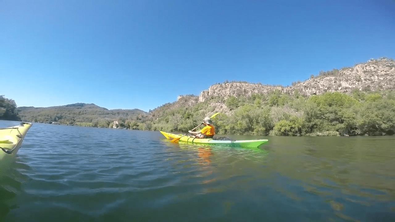 kayaking on the Ebro river in Spain