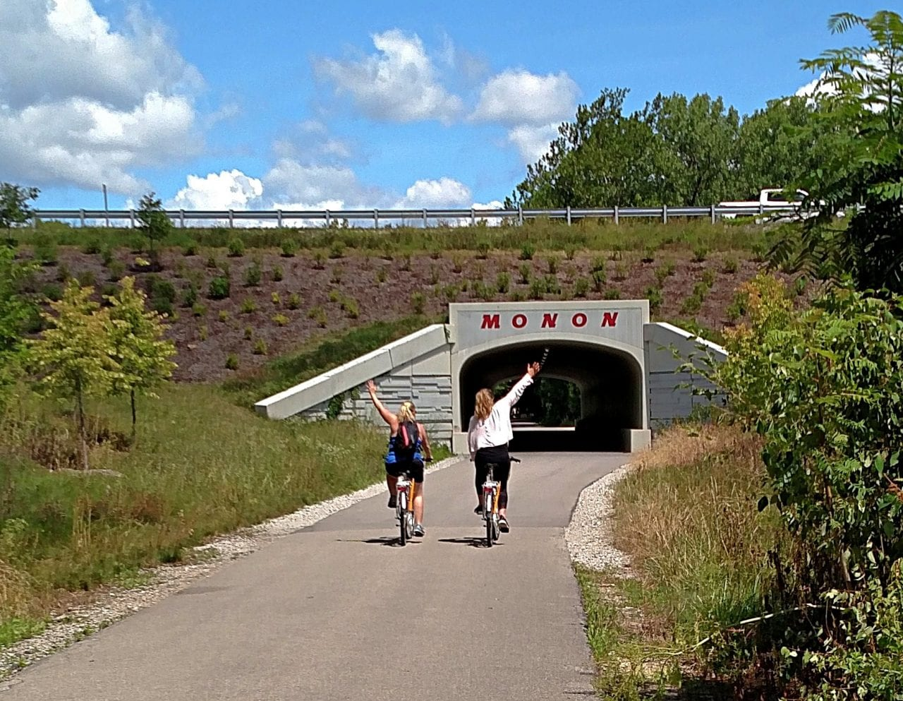 Biking the Monon Trail in Indiana