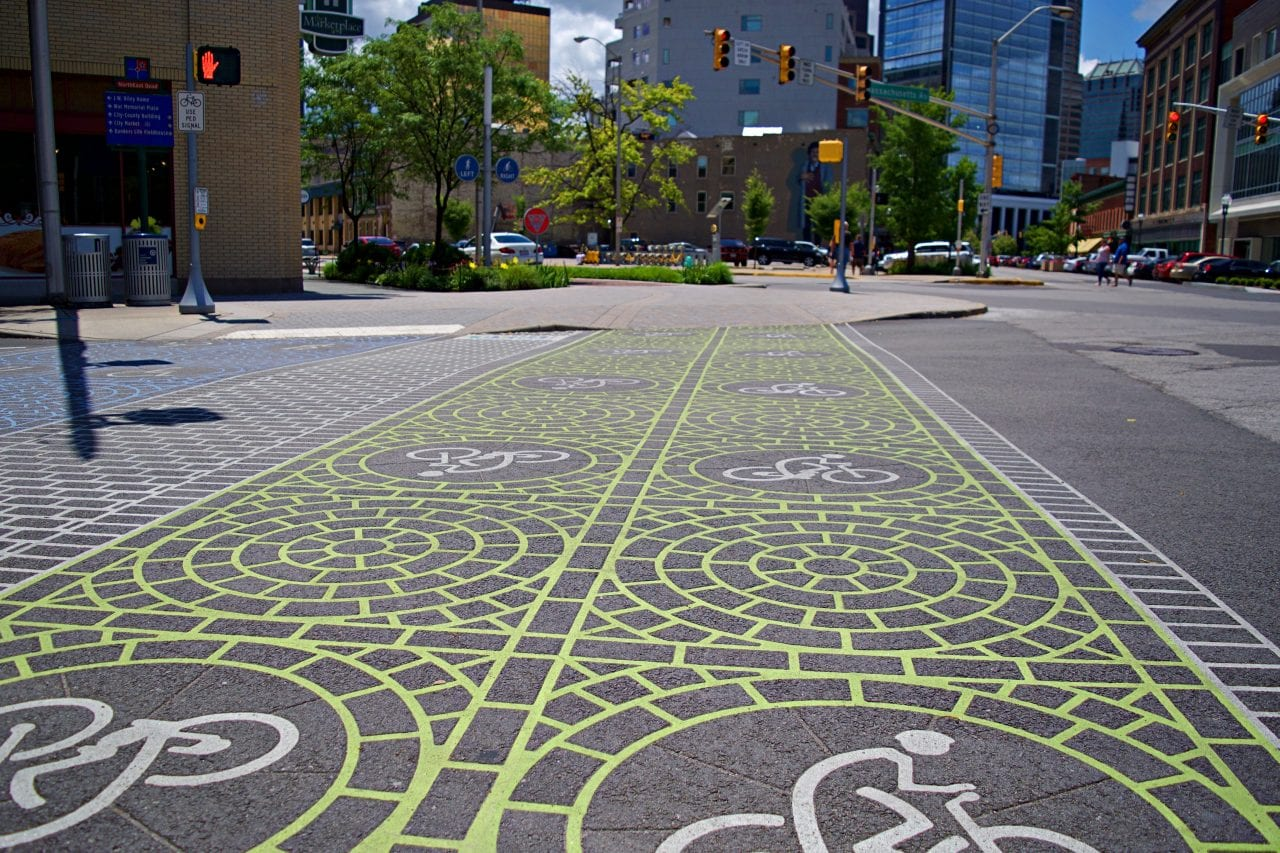 The city bike scheme in Indianapolis is supported by great cycling infrastructure