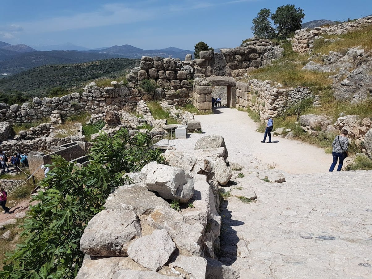 Inside the archaeological site of Mycenae in Greece