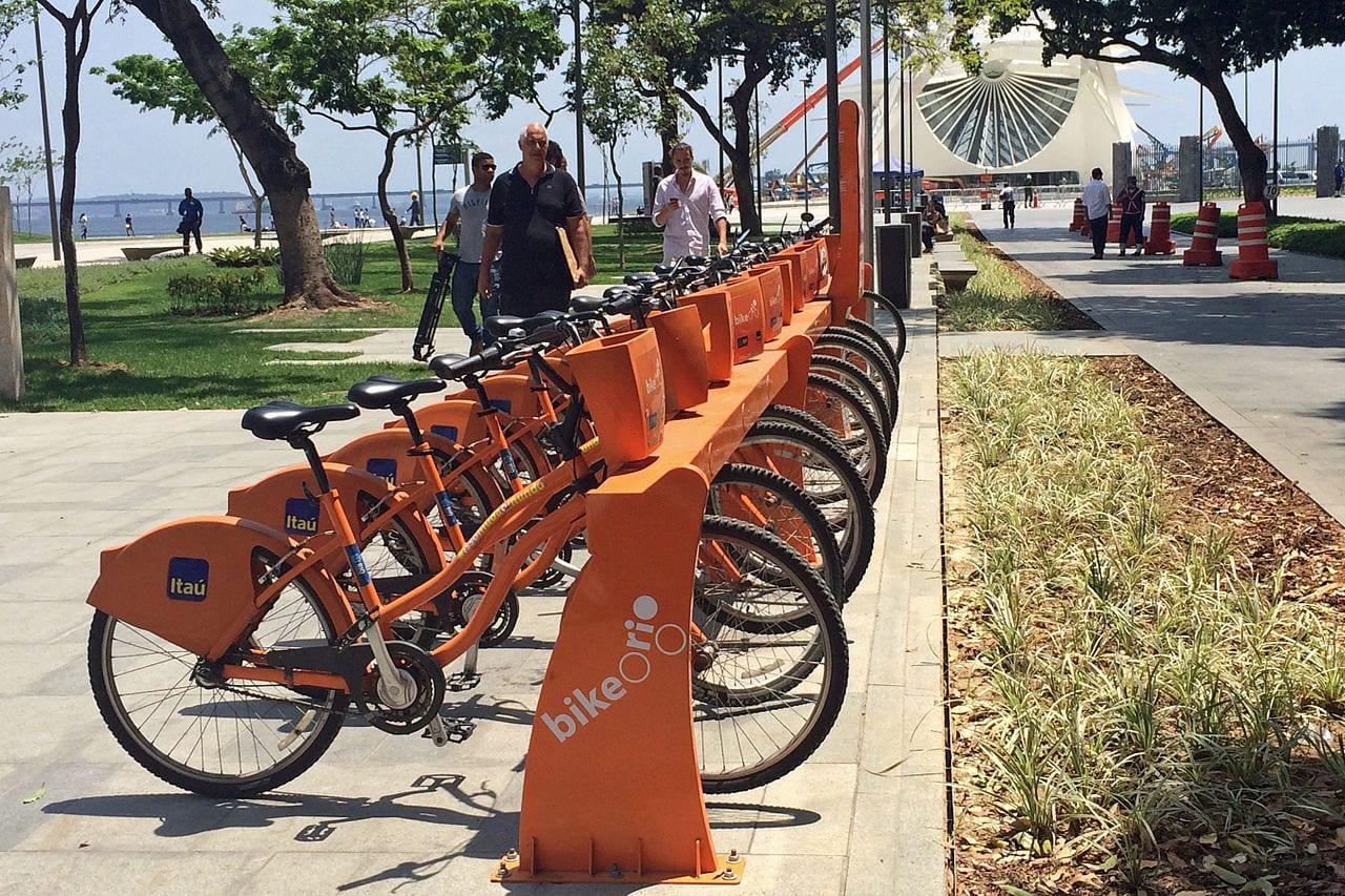 City bike hire scheme in Rio