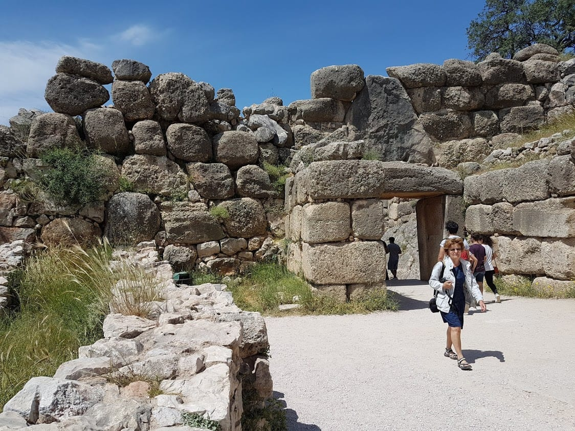 Inside the walls of Mycenae archaeological site
