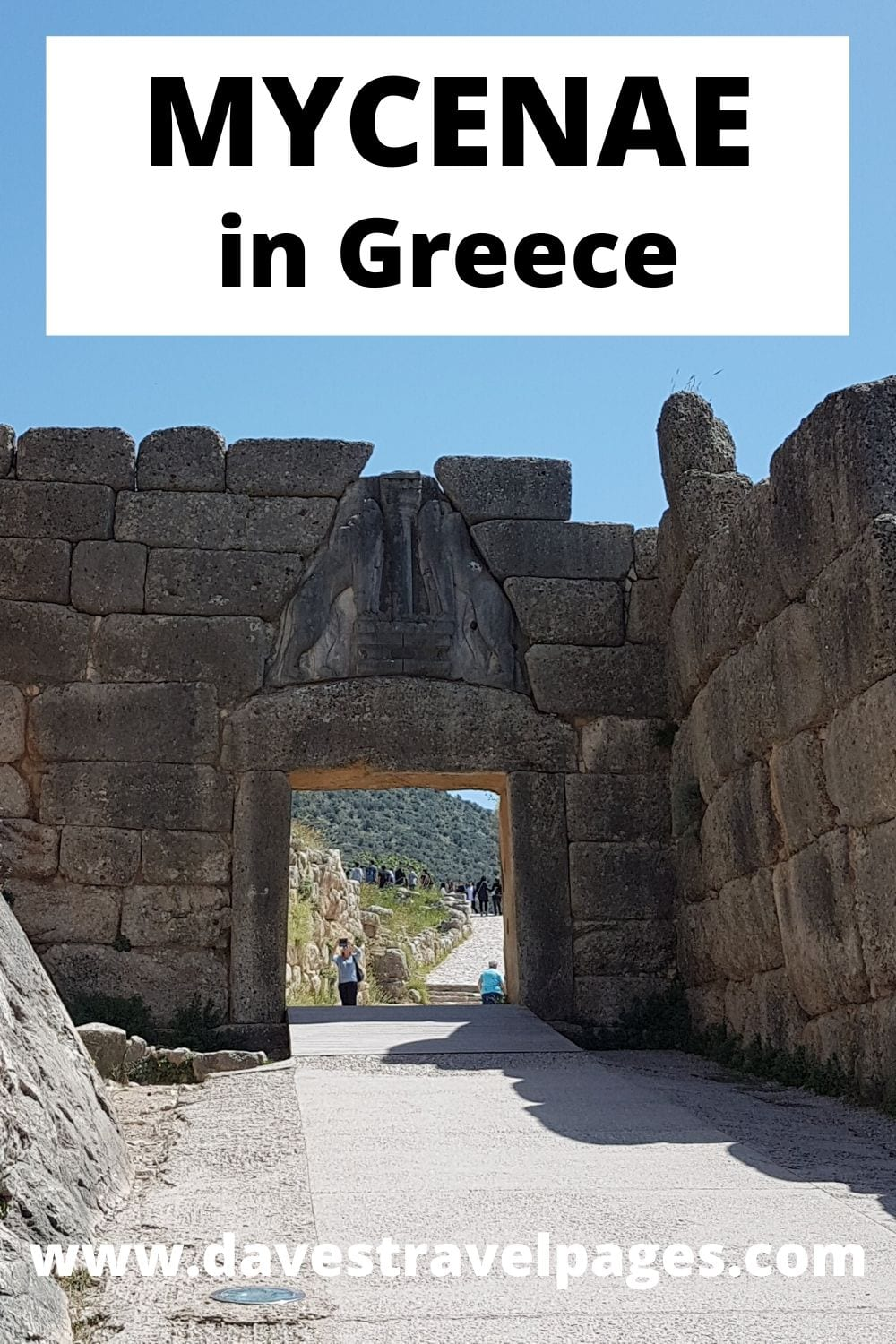 The Lion Gate at Mycenae in Greece