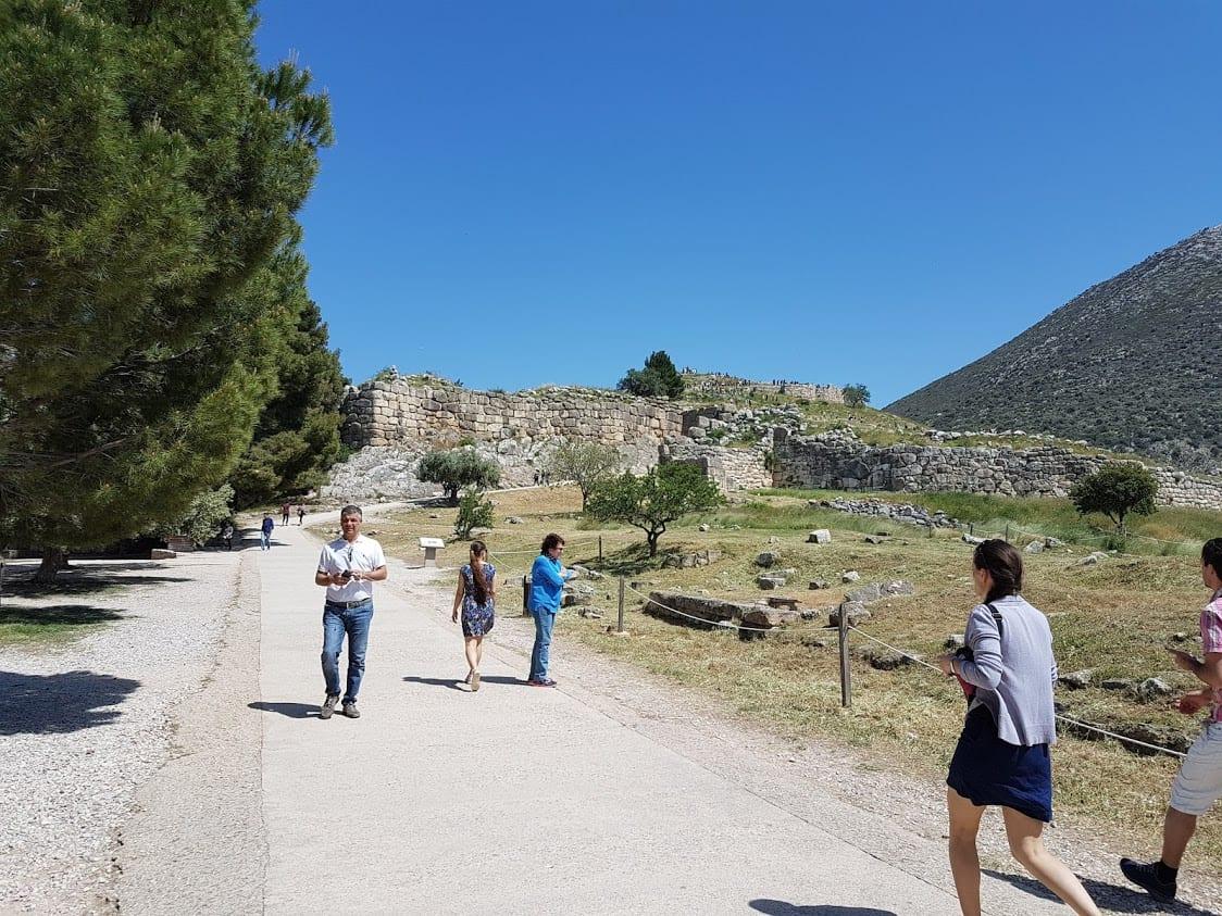Walking toward to Mycenae citadel