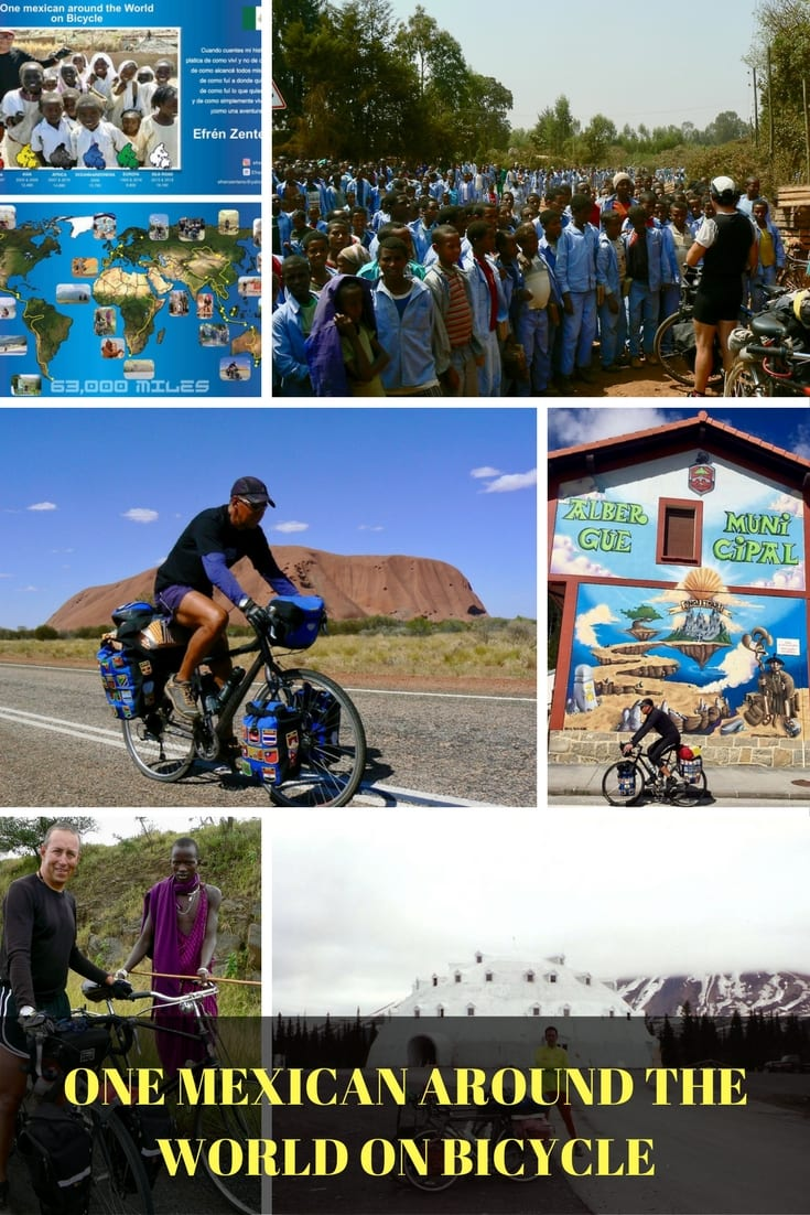 ONE MEXICAN AROUND THE WORLD ON BICYCLE