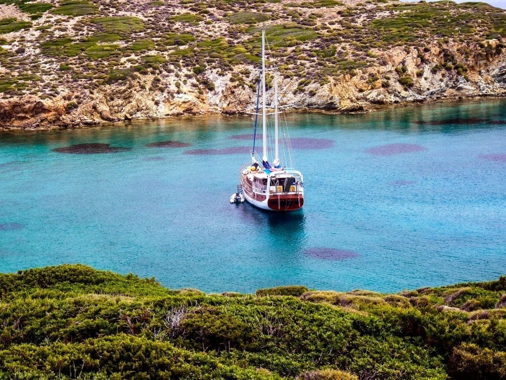 Gullet cruises in Greece