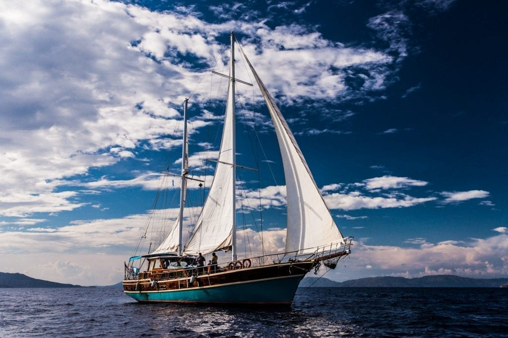 sailing the Greek islands on a gulet