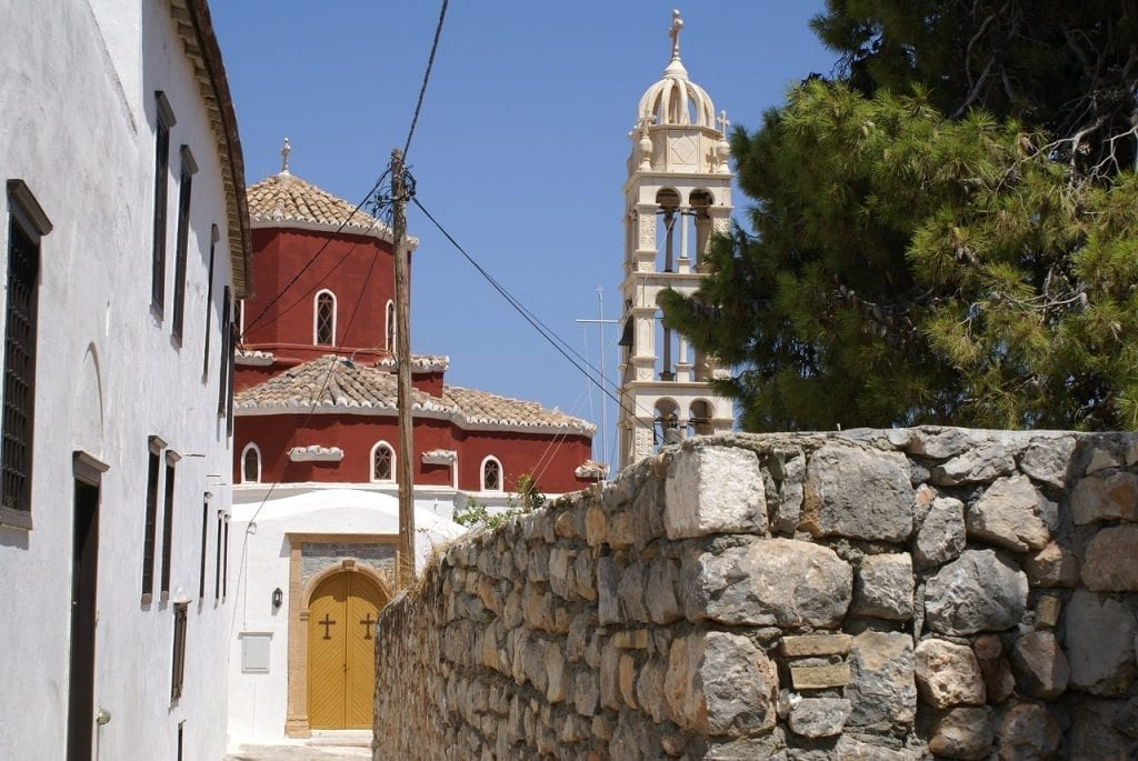 A Greek Orthodox church on the island of Hydra near Athens